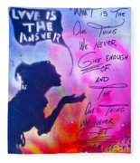Love Is The Answer Fleece Blanket