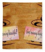 Love Morning Coffee Fleece Blanket