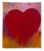 Love On Fire Fleece Blanket