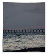 Love On The Beach Fleece Blanket