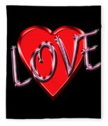 Love Pink And Red  Fleece Blanket