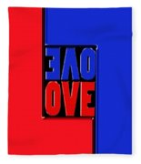 Love Squared Fleece Blanket