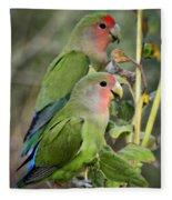 Lovebird Couple  Fleece Blanket