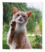Lovely Cat Fleece Blanket