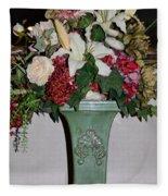 Lovely Floral Arrangement Fleece Blanket