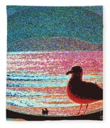 Lovers Beach Fleece Blanket