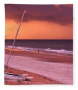 Lovers Embrace On The Shoreline Fleece Blanket