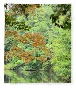Loving The Season Of Autumn Fleece Blanket