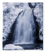 Low Angle View Of A Waterfall, Glenoe Fleece Blanket