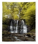Low Angle View Of A Waterfall In A Fleece Blanket