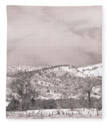 Low Clouds On The Colorado Rocky Mountain Foothills 3 Bw Fleece Blanket