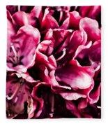 Low Key Pink Azalea Fleece Blanket