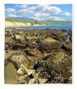 Low Tide At Gaviota Fleece Blanket