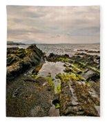 Low Tide Rocks Fleece Blanket