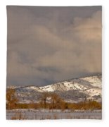 Low Winter Storm Clouds Colorado Rocky Mountain Foothills 2 Fleece Blanket