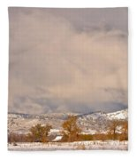 Low Winter Storm Clouds Colorado Rocky Mountain Foothills 5 Fleece Blanket