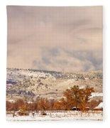 Low Winter Storm Clouds Colorado Rocky Mountain Foothills 6 Fleece Blanket