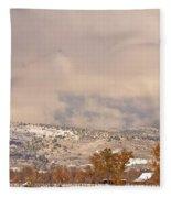 Low Winter Storm Clouds Colorado Rocky Mountain Foothills 7 Fleece Blanket