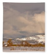 Low Winter Storm Clouds Colorado Rocky Mountain Foothills Fleece Blanket