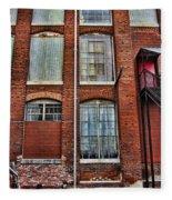 Lowe Mill Art Studio Building Huntsville Alabama Usa Fleece Blanket
