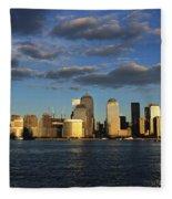 Lower Manhattan At Sunset, Viewed From Fleece Blanket