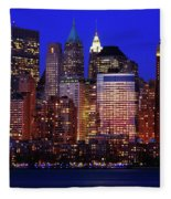 Lower Manhattan Fleece Blanket