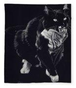 Lucy The Cat Fleece Blanket