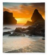 Luffenholtz Winter Sunset 1 Fleece Blanket
