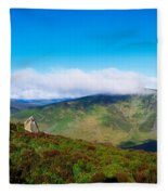 Luggala And Lough Tay, Co Wicklow Fleece Blanket