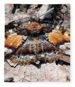 Lunate Zale Moth Fleece Blanket