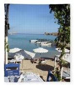 Lunch On The Mediterranean  Fleece Blanket