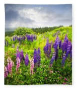Lupin Flowers In Newfoundland Fleece Blanket