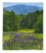 Lupine In Sugar Hill New Hampshire Fleece Blanket