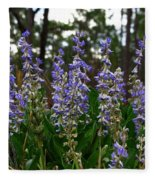 Lupine Patch Fleece Blanket