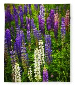 Lupins In Newfoundland Meadow Fleece Blanket