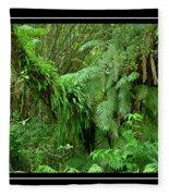 Lush Green Landscape Fleece Blanket