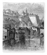 Luxembourg, 19th Century Fleece Blanket