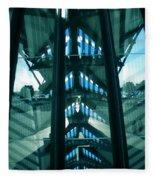 Lyon Gare France Architecture Fleece Blanket