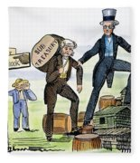 M. Van Buren: Cartoon, 1840 Fleece Blanket