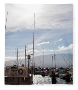 Ma'alaea Marina Fleece Blanket