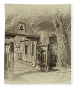Mabel's Gate As Antique Print Fleece Blanket