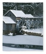 Mabry Mill Winter Fleece Blanket