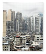 Macau View Fleece Blanket