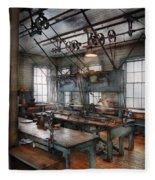 Machinist - Steampunk - The Contraption Room Fleece Blanket