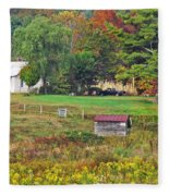 Mack's Farm In The Fall Fleece Blanket