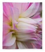 Macro Flower Profile Fleece Blanket