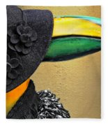 Madame Toucan Of New Orleans Fleece Blanket