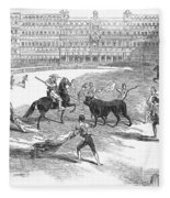 Madrid: Bullfight, 1846 Fleece Blanket