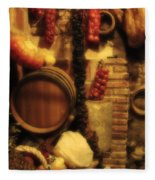 Madrid Food And Wine Still Life II Fleece Blanket