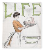 Magazine: Life, 1903 Fleece Blanket